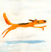 走る子犬 02112010268| 写真素材・ストックフォト・画像・イラスト素材|アマナイメージズ