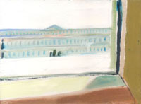 ルーブル美術館内の一室の窓からの眺め