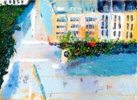 パリの街並みの俯瞰