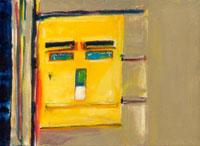 黄色の郵便ポスト