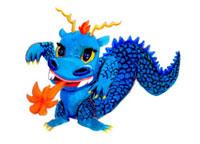 カバのようなポップな青いドラゴン 02112010310| 写真素材・ストックフォト・画像・イラスト素材|アマナイメージズ
