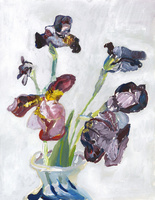 花瓶とジャーマンアイリス