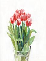 花瓶とチューリップ