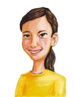 欧米人またはアジア人の若い女性のポートレート