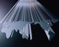 立体感のある地球地図のイメージ CG 02114010054| 写真素材・ストックフォト・画像・イラスト素材|アマナイメージズ