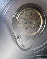 時計の文字盤とゆがみの合成 CG