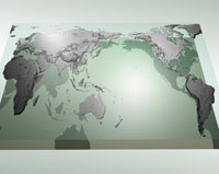 世界地図の合成 CG