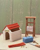 ミニチュアの日曜大工で作った犬小屋