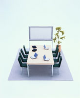 フェルト製の会議室