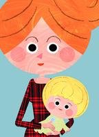 ママが赤ちゃんを抱っこするバストアップ 02130010064| 写真素材・ストックフォト・画像・イラスト素材|アマナイメージズ