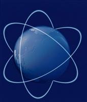 地球とネットワーク(青)
