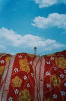布団と給水塔
