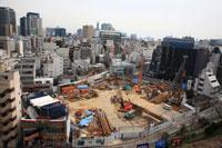 街中の建設現場