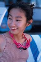 笑顔の日本人女の子