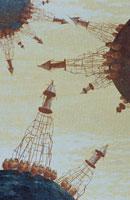 惑星に建つ塔 イラスト 02171010001| 写真素材・ストックフォト・画像・イラスト素材|アマナイメージズ