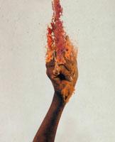 炎を握る手 フォトイラスト