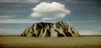 岩山と雲 フォトイラスト