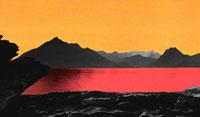 山の前の湖 フォトイラスト