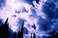雲り空 グレイシャー国立公園 モンタナ州 アメリカ