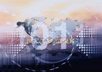 地図と数字のビジネスイメージ CG