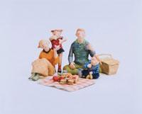 ピクニックをする家族 クラフト