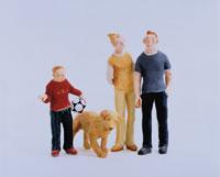 家族と犬 クラフト