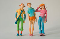3人の女性 クラフト