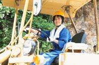 工事現場の日本人女性