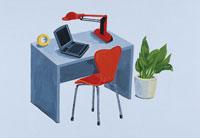 机とノートパソコン イラスト