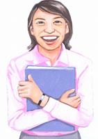 日本人ビジネスウーマン イラスト 02209000040| 写真素材・ストックフォト・画像・イラスト素材|アマナイメージズ