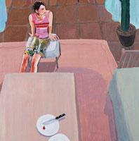部屋で椅子に座る女性 コラージュ 02218000002| 写真素材・ストックフォト・画像・イラスト素材|アマナイメージズ