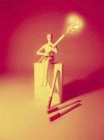 煙草を持つ人物のオブジェ 02221000062| 写真素材・ストックフォト・画像・イラスト素材|アマナイメージズ