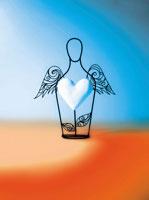 羽のある人物とハートのオブジェ 02221000063| 写真素材・ストックフォト・画像・イラスト素材|アマナイメージズ