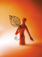 葉を抱く人物のオブジェ 02221000065| 写真素材・ストックフォト・画像・イラスト素材|アマナイメージズ