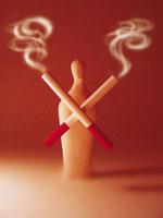 煙草と人のオブジェ