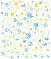 鳥と花と蔦の地紋