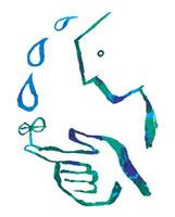 しずくと双葉を持つ人 02221000116| 写真素材・ストックフォト・画像・イラスト素材|アマナイメージズ