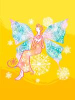蝶の羽のついた女性のイメージ