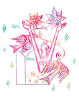 花と鳥と女性のイメージ 02221000164| 写真素材・ストックフォト・画像・イラスト素材|アマナイメージズ