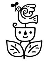 鳥と二葉とキャラクター 02221000175| 写真素材・ストックフォト・画像・イラスト素材|アマナイメージズ