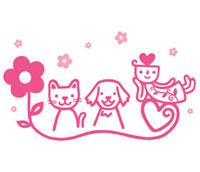 花と動物とキャラクター
