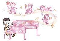 ピアノを弾く子ども   02221000256| 写真素材・ストックフォト・画像・イラスト素材|アマナイメージズ