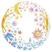 人物と春夏秋冬 02221000262| 写真素材・ストックフォト・画像・イラスト素材|アマナイメージズ