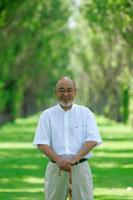 日本人老人男性のポートレート