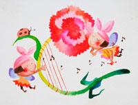 カーネーションとハープとバイオリンの精