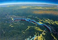 バイカル湖大パノラマ 02237001642| 写真素材・ストックフォト・画像・イラスト素材|アマナイメージズ