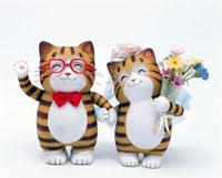 結婚式のネコのカップル 02237001873| 写真素材・ストックフォト・画像・イラスト素材|アマナイメージズ