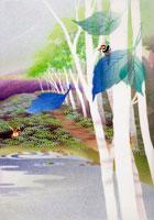 6月〜白樺並木にキツツキとウサギ・深山峠