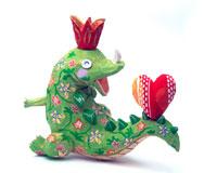 楽しく恋する花柄の恐竜01