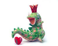 楽しく恋する花柄の恐竜02